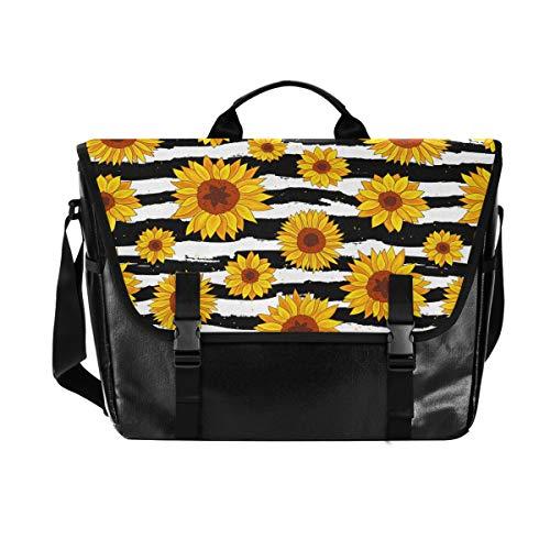 Spring Sunflowers Retro Flowers Laptop Shoulder Bag Waterproof Messenger Bag Carrying Briefcase Sleeve Case