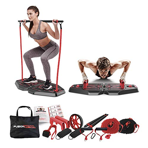 Fusion Motion Portable Gym with 8 Accessories Including Heavy...
