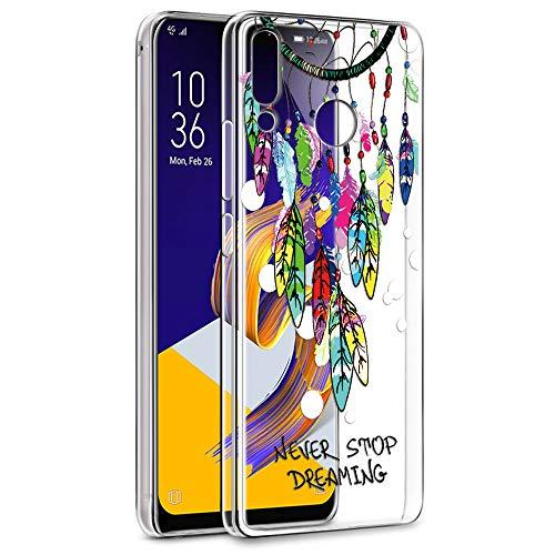 Eouine Cover ASUS Zenfone 5 ZE620KL, Custodia Cover Silicone Trasparente con Disegni Ultra Slim TPU Silicone Morbido Antiurto 3D Cartoon Bumper Case per ASUS Zenfone 5 ZE620KL (Salice)