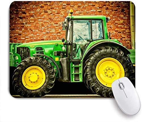 Alfombrilla de ratón Fondo de Tema de Coche Fondo de fotografía de Tractor Arte Personalizado Base de Alfombrilla de ratón Accesorios de Oficina para Ordenador portátil 11,8 por 9,85 Pulgadas