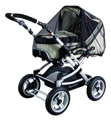 Sunnybaby 10359 - Protezione universale dagli insetti adatta a passeggini, seggiolini auto e lettini da viaggio, colore: Nero