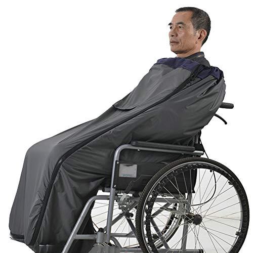 WANGXNCase Rollstuhldecke Wasserdicht, wasserdichter, gemütlicher Wickel für Rollstühle, leichte, kurzflanellgefütterte Ganzkörperwärmer-Deckenabdeckung mit doppeltem Reißverschluss