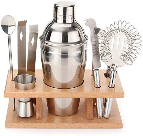 Safety 9 in 1 Stainless Steel Set Tools Cocktail 2021new shipping free Shaker with Animer and price revision Woo