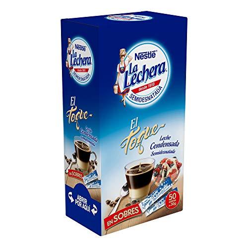 Nestlé La Lechera - leche condensada semidesnatada - 50 sobres x 30 g - Total: 1.5 kg