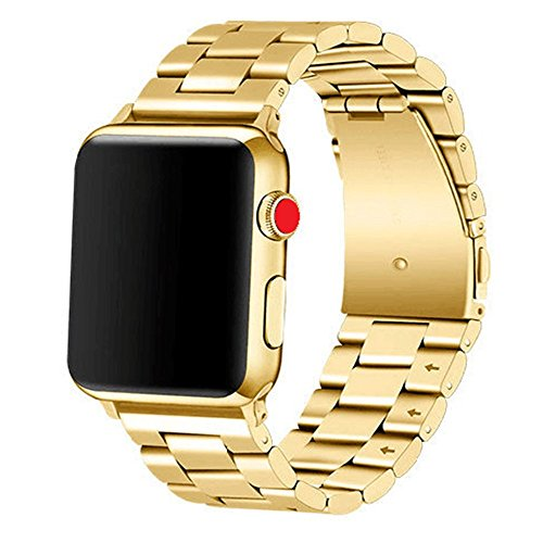 Libra&Gemini Apple Watch Band 42mm 44mm Premium Stainless Metal Steel Watch Band Replacement for Apple Watch Series1/2/3/4(Gold)