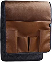 BCP Brown Color Velvet Sofa Couch Chair Armrest Soft Caddy Organizer Holder for Remote Control, Cell Phone, Book, Pencil