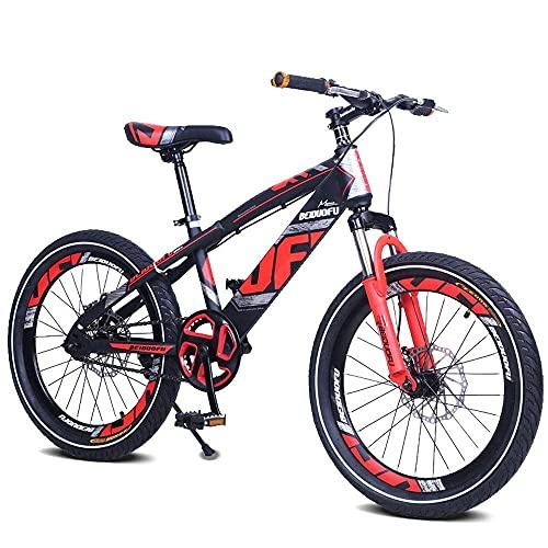 N&I Bicicleta de montaña para niños de 16/18/20 pulgadas con absorción de golpes de una sola velocidad