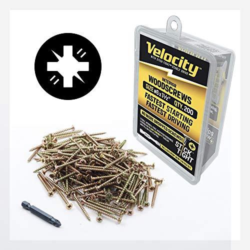 Wood Screw - Velocity Interior Stick-Tight Wood Screw #6 x 1-1/2