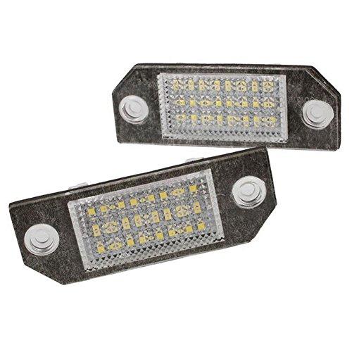 GOFORJUMP 2Pcs 12V Blanc 24 LED Numéro de Lampe de Plaque D'immatriculation Lampe pour F/ordus C-Max MK2