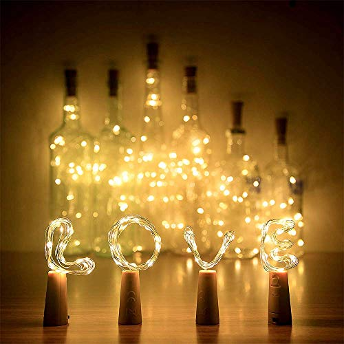 ZhuLinFeng 2 Stück 3m Flaschenlicht Lichterkette Stimmungslichter Weinflasche Flaschenlichterkette Korken Lichterkette Deko für Flasche DIY Party Hochzeit Halloween Weihnachten(3 Meter 30 LEDs(LR44))