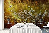 Lyqyzw Papel Tapiz Fotográfico Mural De Pared Margaritas Flores De Primavera Prado Tema Flores Muestra Impreso En Lienzo Papel-368X254Cm