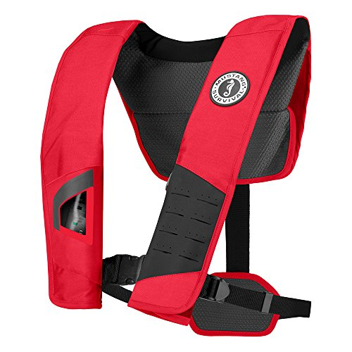 %35 OFF! MUSTANG SURVIVAL MD2981 DLX 38 Inflatable Manual PFDLife Jackets & Vests, Red Black