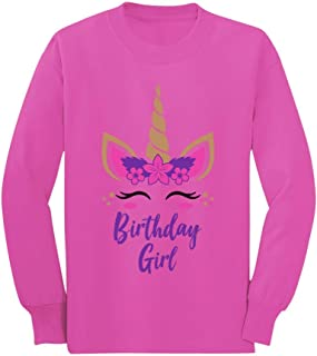 Birthday Girl Unicorn Outfit Gifts for Girls' Toddler/Kids Long Sleeve T-Shirt