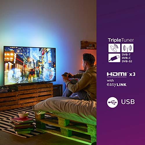 TV LED Philips 50PUS7805/12 50 pollici con Ambilight e Alexa integrata (4K UHD LED TV, HDR10+, Dolby Vision, Dolby Atmos, Smart TV) – color nero (modello 2020/2021) [Classe Energetica A]