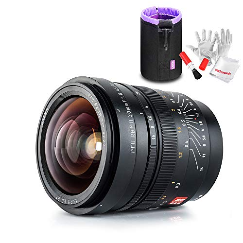 Viltrox 20 mm F1.8 gran apertura Full Frame lente de gran angular fijo/Prime para cámaras Sony E-Mount A7, A7R, A7RII, A7S, A7SII, enfoque manual con bolsa para lentes, color negro