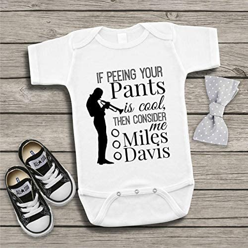 If Peeing Your Pants is Cool Consider Me Miles Davis Baby Bodysuit Onesie Funny Billy Madison product image