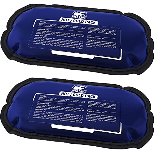 Ice Packs - Hot and Cold Therapy Reusable Gel Packs Helps Alleviate Joint Pain, Muscle Soreness | Supports Injury Recovery, Back Pain Relief (2 Pack)