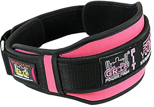 Grip Power Pro Gewichthebergürtel für Damen für Fitnessstudio, Fitness, Crossfit, Bodybuilding, Powerlifting, Gewichtheben für Kniebeugen, Lunges, Kreuzheben - Pink, Violett, rose