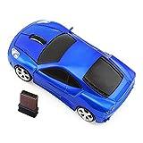 Kamouse Car Shape Wireless Mouse Ergonomic Optical Mice USB 2.4G Mini Receiver for Pc Laptop Desktop Windows 10