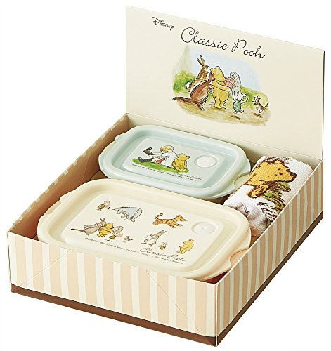 Food containers and towel set 1000 yen gift [Classic Pooh]