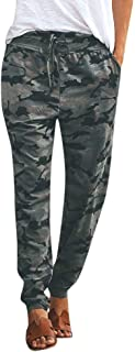 iYYVV Women Camouflage Print Pants Women Sports Casual Pants
