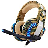 Kotion Each Over the Ear Headsets with Mic & LED - G2000 Pro