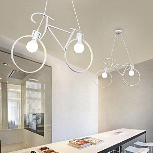 Lampadario a bracci per bicicletta industriale vintage Windmill, lampada a soffitto semplice per LED, ristorante americano Village Lampada a sospensione decorativa per ufficio (Color : White)