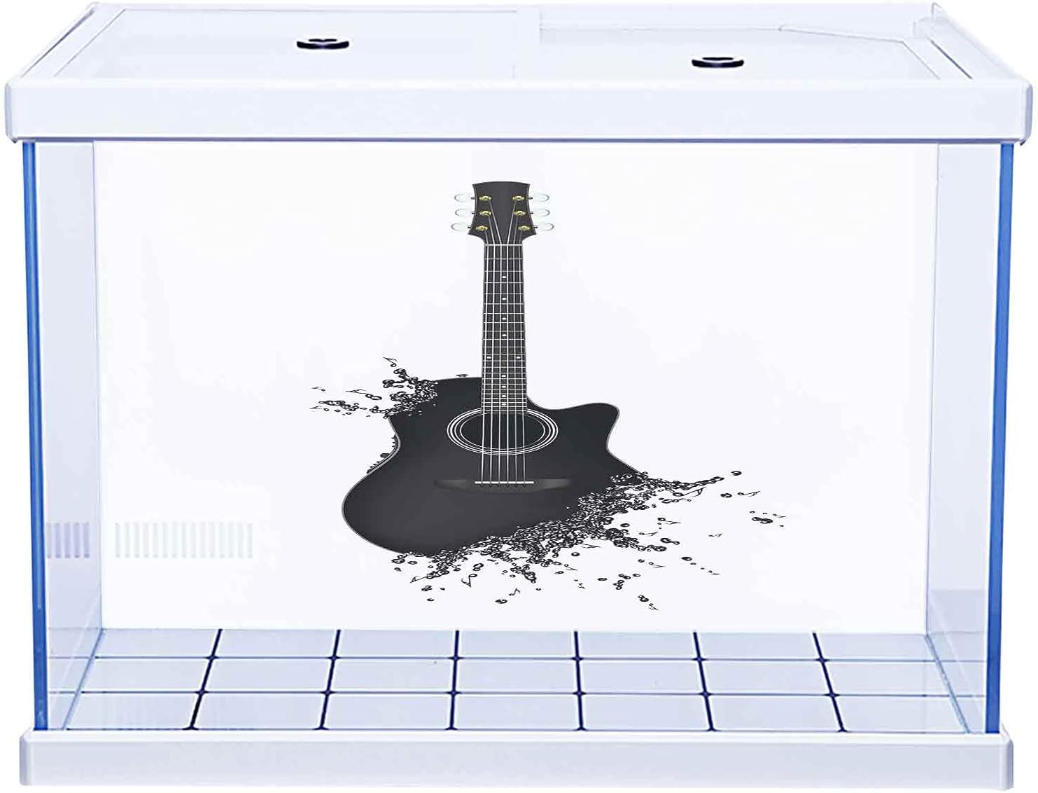 Home Aquarium Décor Backgrounds Instrument Trust Guitar Faded Patte Selling and selling