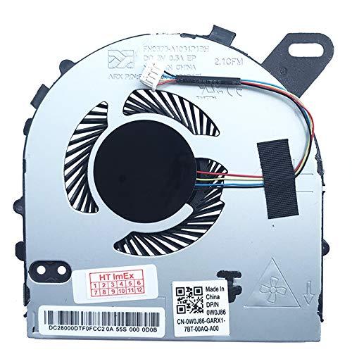 Lüfter/Kühler Fan kompatibel mit Dell Inspiron 15-7560, 15-7572, Vostro 5468, 5568, 5568N, Dell P/N: 0W0J86, 0W0J85