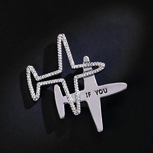 Broche simple d'avion rétro, goupilles de bijoux de veste , a double aircraft