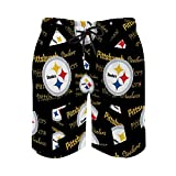 G-III Sports Pittsburgh Steelers Mens Swim Trunks,Quick Dry with...