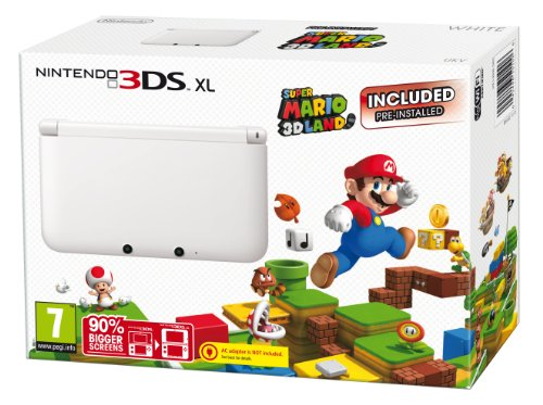 Nintendo Handheld Console 3DS XL - White Limited Edition with Super Mario 3D Land (Nintendo 3DS)