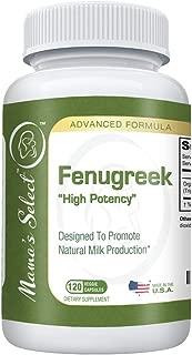 Organic Fenugreek Capsules for Increased Breast Milk Supply During Breastfeeding & Lactation - Potent Fenugreek Seed Supplement/Vitamins- Better Than Tea, Oil,& Leaves - 120 Herbal Vegetarian Pills
