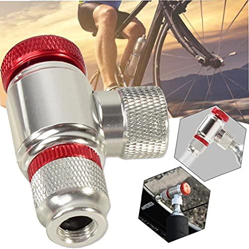 Bomba De Cabeza De La Bici De Co2 para Inflar La Cabeza para Bicicletas Neumáticos Presta Y Schrader Compatible Válvulas Neumático De La Bici Bomba Cabeza De Aleación De Aluminio