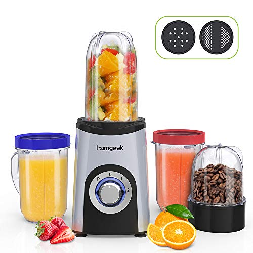 Blender Smoothie, Homgeek Mini Blender, Mixeur...