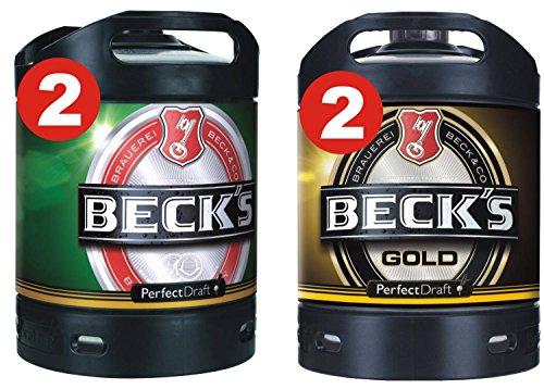 2 x Becks Pils + 2 x Becks Oro Perfect Draft 6 litros baril 4,9% vol.