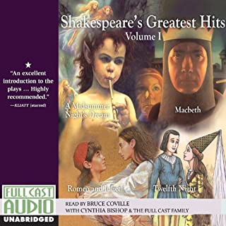 Shakespeare's Greatest Hits Retold by Bruce Coville , Volume I audiobook cover art