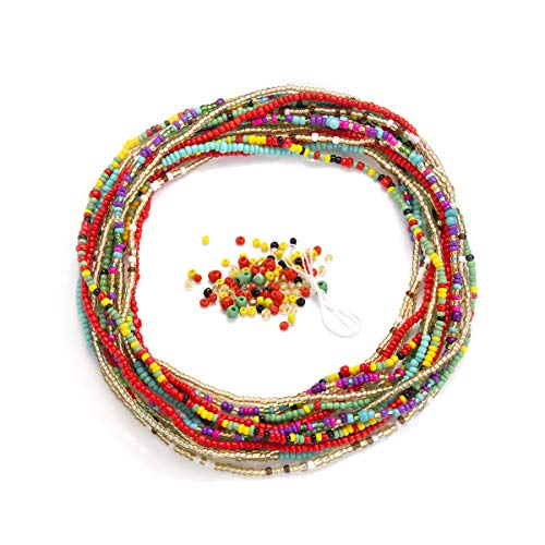 Waist Beads for Weight Loss Stretchy African Waist Beads for Women Plus Size...