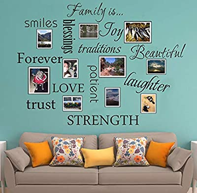 Family Wall Decal Set of 12 Family Words Quote Vinyl Family Wall Decal Family Room Art Decoration Living Room Decor