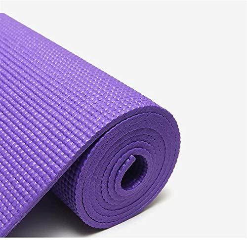 EIIDJFF Esterillas Yoga Antideslizante Antideslizante En Ambos Lados Material De PVC De Alta Densidad Buen Efecto Suave Y A Prueba De Golpes (Color : Purple)