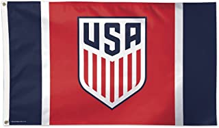 WinCraft Soccer US Soccer - National Team 12829115 Deluxe Flag, 3` x 5`