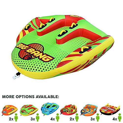 Big Sky Heat Wave Towable, Inflatable Water Tube for 2 -Roomy, Durable Boating Tubes for Lake, Beach, River, Snow -Watersports Towables -Quick Inflation and Deflation -Two Person Boat Toys and Floats