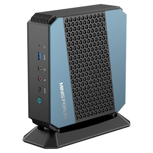 MinisForum EliteMini HX90 AMD Ryzen 9 Gaming Mini PC; Ryzen 9 5900HX a 4,6 GHz; 32 GB de doble canal; 1 TB M.2 NVMe SSD; 2 unidades de 2,5 pulgadas; compatibilidad con cuatro pantallas [HX90-32-1]