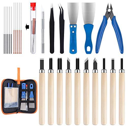 WiMas 31PCS 3D-Druck-Werkzeug-Kit, 3D-Druckerzubehör-Set mit Aufbewahrung Tasche, für Reinigung, Drucken, Finishing und 3D-Drucker