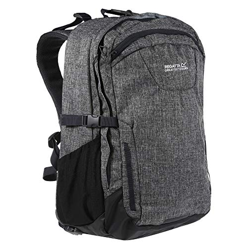 Regatta Cartar Hardwearing Padded Laptop Pocket Reflective Travel Backpack - Grey, 35 Litre