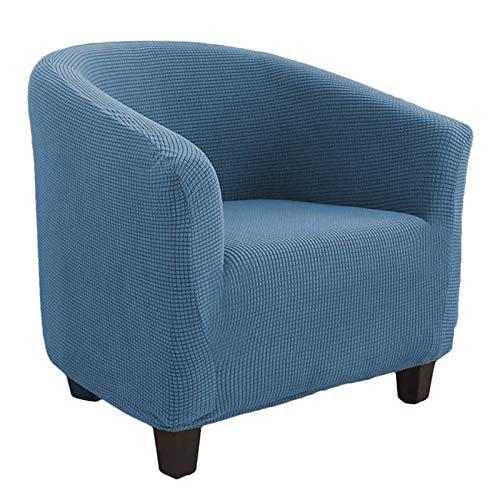 SINKITA Sesselüberwurf,Strecken Sesselschoner Jacquard Kariertes Muster Langlebige Elastische Bodenmöbel Dekoration Sesselhusse 1 Sitz-Blau
