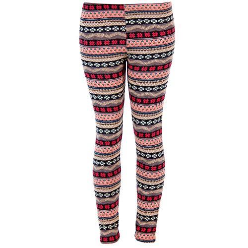 HUAZONG Women Christmas Snowman Printed Leggings Long Sports Gym Yoga Pants Fitness Running Leggings High Waist Stretch Athletic Workout Trouser (Red, XL)