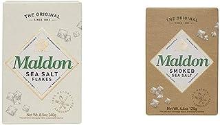 Maldon Salt, Sea Salt Flakes, 8.5 oz (240 g), Kosher, Natural, Handcrafted, Gourmet, Pyramid Crystals & Salt, Smoked Sea S...