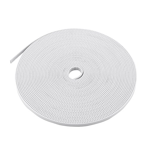 10M Timing Belt, White Open Timing Belt Width 6mm PU with Steel Core, for small precision machinery transmission,for 3D printers, intelligent plotter, etc