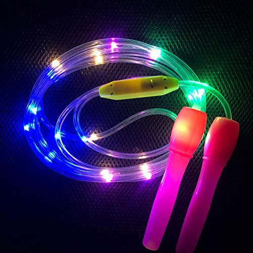 zuoshini Springseil Kabel Zufällige Farbe im Dunkeln Leuchten Springseil LED Lichter Fitness Springseil